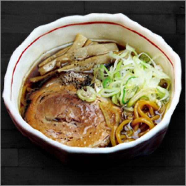 Photo1: Toyama Black Ramen MAKOTOYA Soy Sauce Taste X 2 servings  (1)