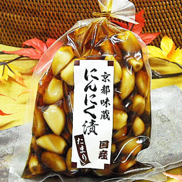 Photo1: Japanese Brining, Corning, Pickles Garlic ` Japan Garlic Used ` 80g (Soy Taste) Kyoto Famous Pickles Side Dish Garlic (1)