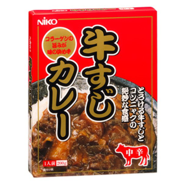 Photo1: Famous Osaka's beef tendon retort curry (medium spicy) 200g (1)