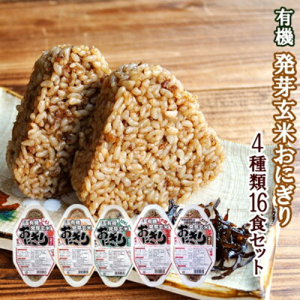 Photo1: Organic Germinated Brown Onigiri (Rice Balls) | Set of 5 Different Kinds  (1)